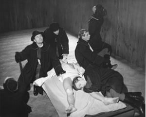 A performance of The Constant Prince, by Julius Slowacki of the Polish Laboratory Theatre, directed by Jerzy Grotowski in Warsaw, 1965.