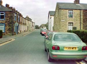 Green car in 70s Britain.