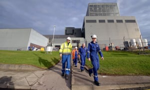 Workers at Hunterston B power station