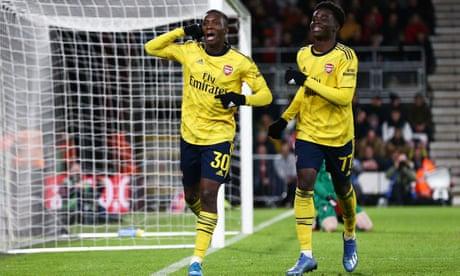 Eddie Nketiah seals Arsenal's FA Cup progress at expense of Bournemouth