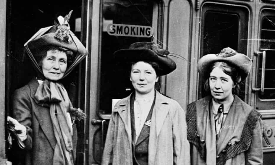 Emmeline, Christabel and Sylvia Pankhurst