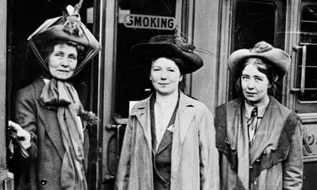 From left: Emmeline, Christabel and Sylvia Pankhurst in 1911.