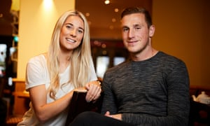 Kirsty Linnett and Chris Wood, pictured in a coffee shop in Alderley Edge, Cheshire.