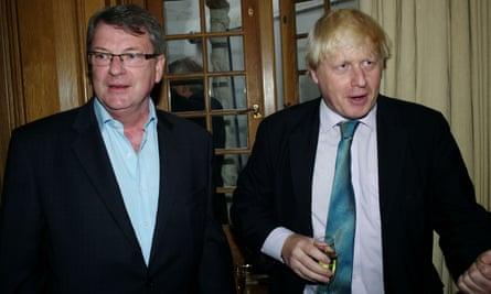 Lynton Crosby, left, and Boris Johnson
