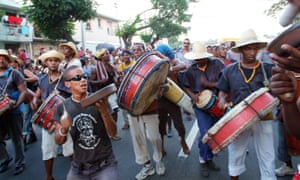 Santiago de Cuba street parade.