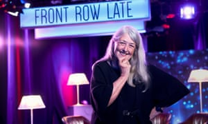 Mary Beard in the Front Row Late studio.