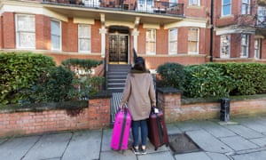 A young woman renting a flat in Maida Vale London