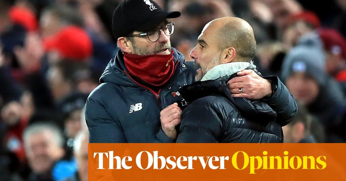 Manchester City's faltering press at risk against Klopp's relentless Liverpool | Jonathan Wilson