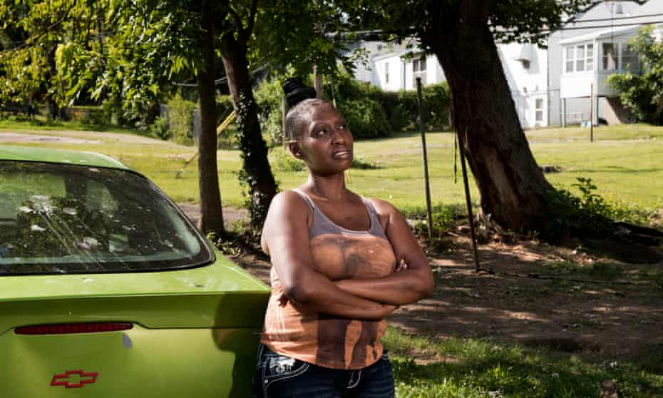 Diedre Wortham: 'Basically, us black people living in St Louis, if we see the police, off the top we're scared because we think that they are going to pull us over for whatever reason.'