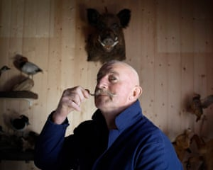 Bruno Guichard, taxidermist'When asked if he had any childhood memories, Bruno hesitated before bursting into tears. He recounted how his grandmother had saved him from a difficult childhood, and had introduced him to taxidermy'
