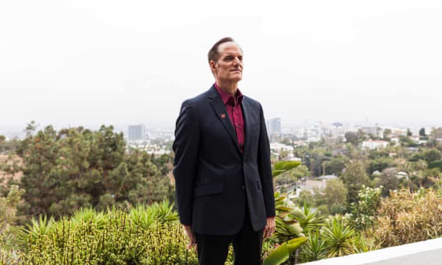 Michael Weinstein poses for a portrait at his home in Los Angeles.