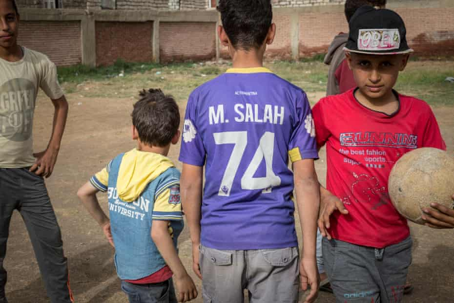 Youngsters at a youth centre named after Mohamed Salah in Nagrig, a small farming village.