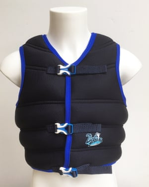 A sand vest made by Beluga Healthcare.