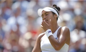 Heather Watson is out of Wimbledon after losing 3-6, 6-1, 6-4 to Victoria Azarenka.