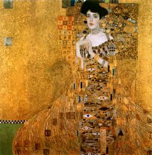 Portrait of Adele Bloch Bauer I, by Gustav Klimt, 1907.