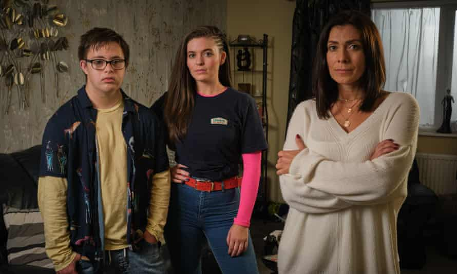 It could be you ... Shane (Ruben Reuter), Keeley (Katherine Rose Morley) and Donna (Kym Marsh).