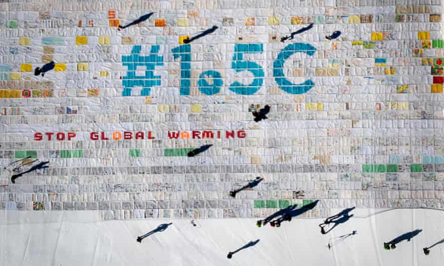Massive collage of 125,000 drawings and messages from children from around the world about climate change