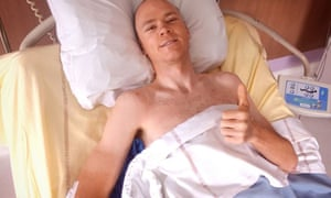 Chris Froome at the University Hospital of Saint-Etienne, after suffering multiple fractures in a high-speed crash on June 12, 2019, that has ruled him out of the Tour de France. The force of the impact fractured his pelvis, right femur, hip, right elbow and left him with broken ribs.