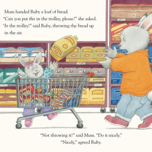 Mum attempts to take Ruby shopping - it doesn't go well - in Jill Murphy's recent picture book Meltdown!