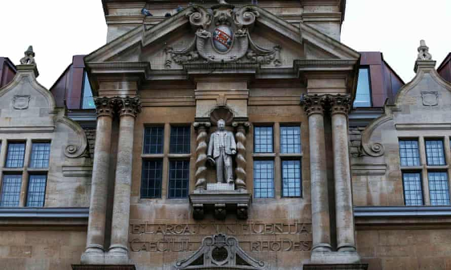 The dispute has reignited debate within Oxford about its historical baggage, including the statue of Cecil Rhodes at Oriel College.