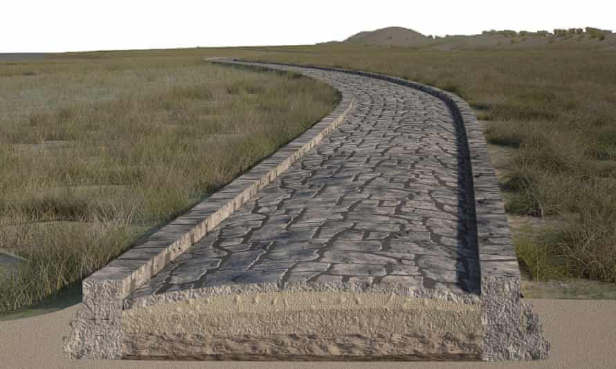 A digital reconstruction of the Roman road in the Venice lagoon
