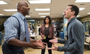 Cop a load of that: Brooklyn Nine-Nine's Terry Crews, Stephanie Beatriz and Andy Samberg