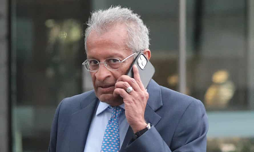 Mohamed Amersi after leaving a hotel in Park Lane, London in September 2021 after a Conservative party fundraising lunch