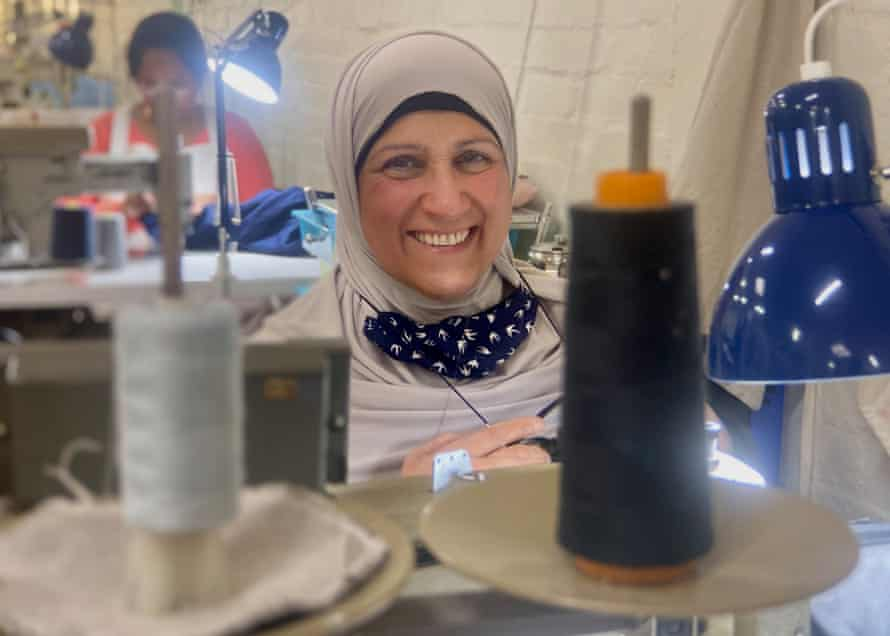 Yusra Adin from Second Stitch, a community textiles initiative in Melbourne's north.