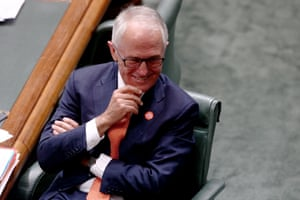 Malcolm Turnbull during question time.