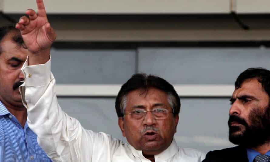 Pervez Musharraf seen arriving in Dubai in 2013.