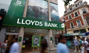 A Lloyds Bank branch on Oxford Street, London.