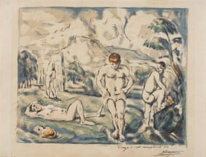 The Bathers, 1896-97, by Paul Cézanne.
