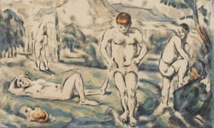 detail from Paul Cézanne's The Bathers (Large Plate) (1896-97), colour lithograph