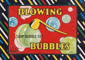 Milton Bradley, ca. 1923 blowing bubbles advert from the book Toys: 100 Years of All-American Toy Ads (£30) by Jim Heimann and Steven Heller is published by Taschen.