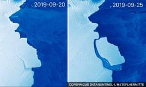A massive iceberg has calved off Amery ice shelf in Antarctica