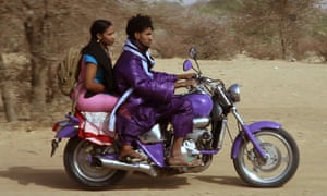 A still from Kirkley's Purple Rain remix, starring musician Mdou Moctar.