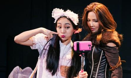 Kunjue Li and Elizabeth Tan in Francis Turnly's play Harajuku Girls.