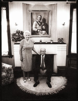 Lady Jessie and Sir Donald Bradman, Kensington Park, Adelaide, South Australia 1992–1993