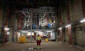 The underground power station, near Smithfield market, in central London.