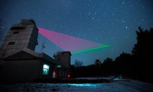 The quantum satellite link established by Chinese physicists.