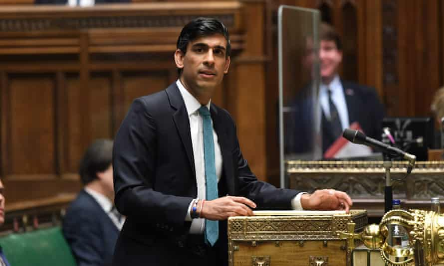 Rishi Sunak delivers his autumn spending review in the House of Commons, 25 November 2020.