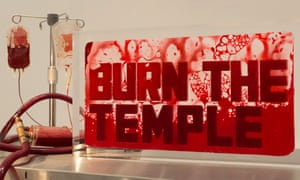 Andrei Molodkin's Burn the Temple