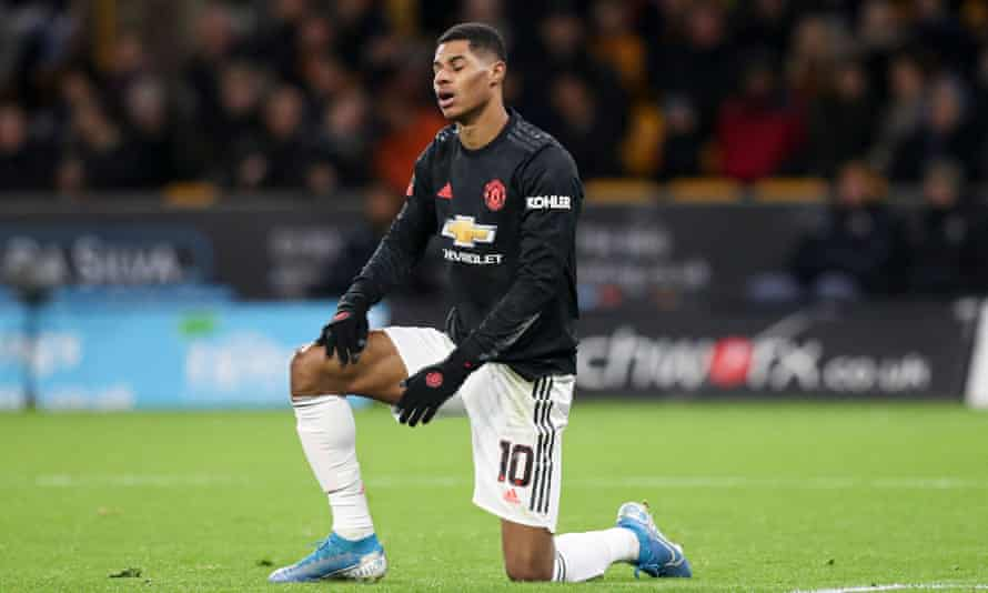 Marcus Rashford and his Manchester United teammates did not manage a shot on target in their 0-0 draw at Wolves in the FA Cup.