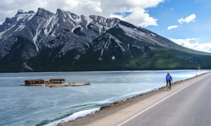 Cycling in Banff national park.