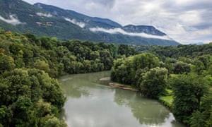 River Isere and the Vercors massif.
