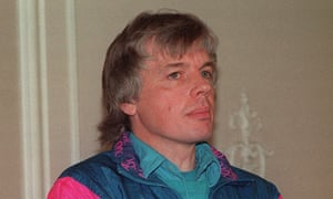 David Icke, who played for Hereford United and worked as a sports broadcaster for the BBC, pictured in March 1991