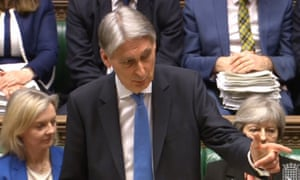 Wise-cracking Philip Hammond delivering the spring statement