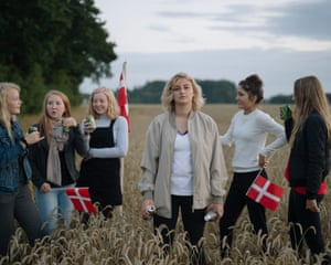 Maria Louise Hecky-Andersen celebrates her 16th with friends, flags and beer in Denmark.