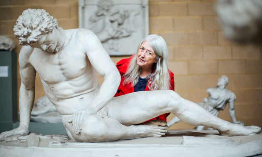 Mary Beard at the Museum of Classical Archaeology in Cambridge for her TV show Shock of the Nude.