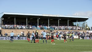 The main stand at Forfar's Station Park.